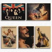 A rainha do vintage boêmio rhapsody música filme arte cartaz retro impresso cartaz da arte da parede para sala de estar decoração