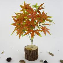 1Pc 5 Branches Artificial Maple Leaves Bridal Banquet Lifelike Plant Room Decor bright colors nature maple leaves