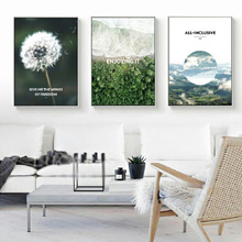 Dandelion Forest Coastline Canvas Painting GIVE ME THE WINGS OF FREEDOM Posters Living Room Home Decoration Wall Art Pictures