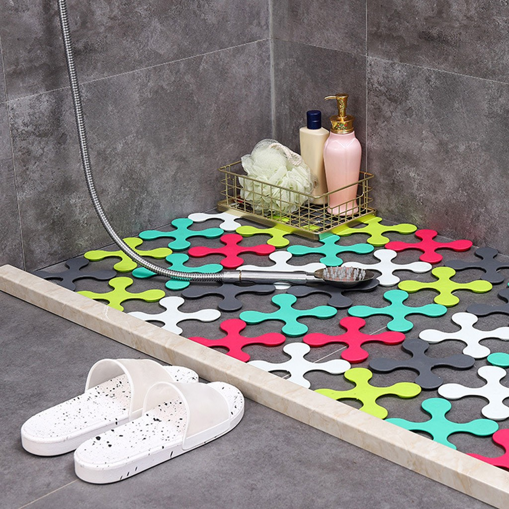 No Slip Bathtub Stickers Anti-Slip Shower Decal Safety Bath Mat Pad Reusable Washable Sticker Kitchen Bathroom Accessories
