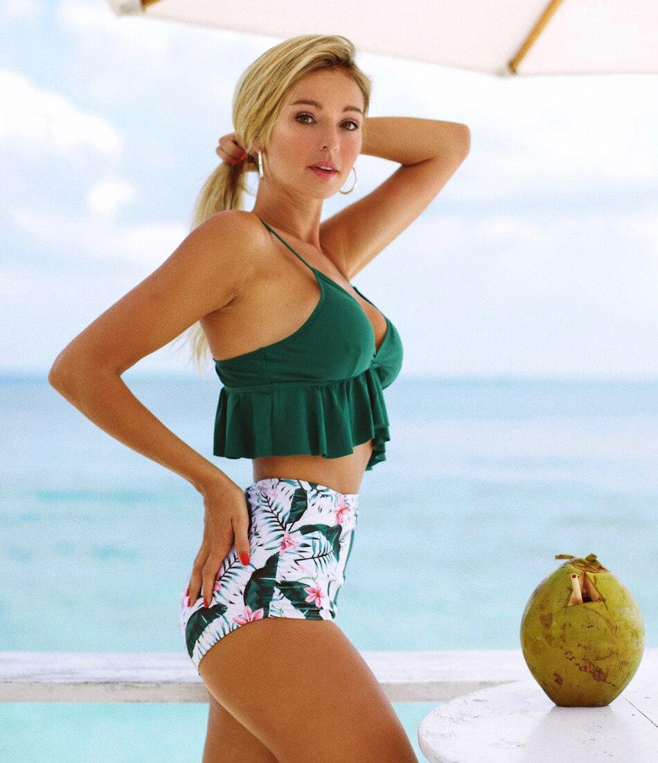 Hbde4b81278e54edbb248223b0b7403dcK 2019 New Sexy High Waist Bikini Swimwear Women Swimsuit Push Up Ruffle Bathing Suit Biquini Plus Size Swimwear Female Beach Wear