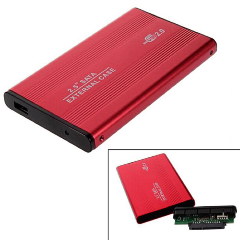 2.5inch USB 2.0 External HDD Enclosure Box 480mbps Support 3TB Aluminum HDD Drive Case For 2.5