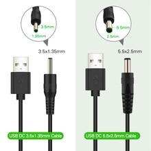 Cable de alimentación USB A DC de 3,5mm, adaptador de cargador de fuente de alimentación USB A macho A conector Jack 3,5 para Cable de carga de concentrador USB, 5V