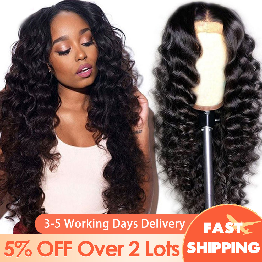 13x4/13x6 Lace Front Human Hair Wigs Loose Wave Wig Peruvian Loose Deep Wave Wig Remy Hair Face Mask 360 Lace Frontal Wigs Mask