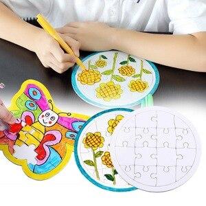 Пустая раскраска, белая бумажная доска для раскрашивания, Детский пазл для творчества, Раскрашивание граффити, детские развивающие игрушки
