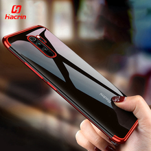 Hacrin Phone Case for Xiaomi Redm Note 8 Pro Luxury Clear Transparent Bumper TPU Silicone Plating Cover on Redmi
