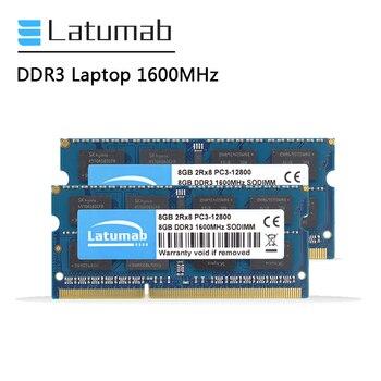 Latumab DDR3 2GB 4GB 8GB RAM Laptop Memory 1600MHz PC Memory PC3-12800 So Dimm RAM Notebook Memory Module цена 2017
