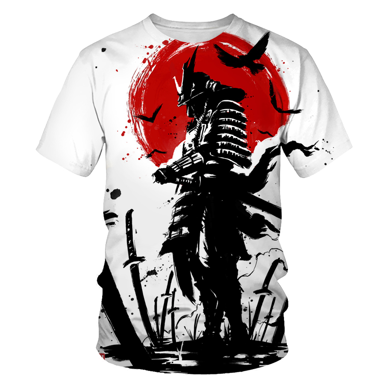 Graffiti T-shirt men's painting picture 3D printing hip-hop street clothing loose and comfortable fabric O-neck men's T-shirt