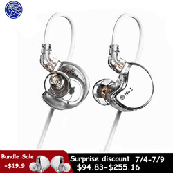 TFZ NO.3 In-ear Earphones Dynamic Driver Super Bass Noise Cancelling Headphones Dj Stereo Headset 0.78mm 2Pin Detachable Cable