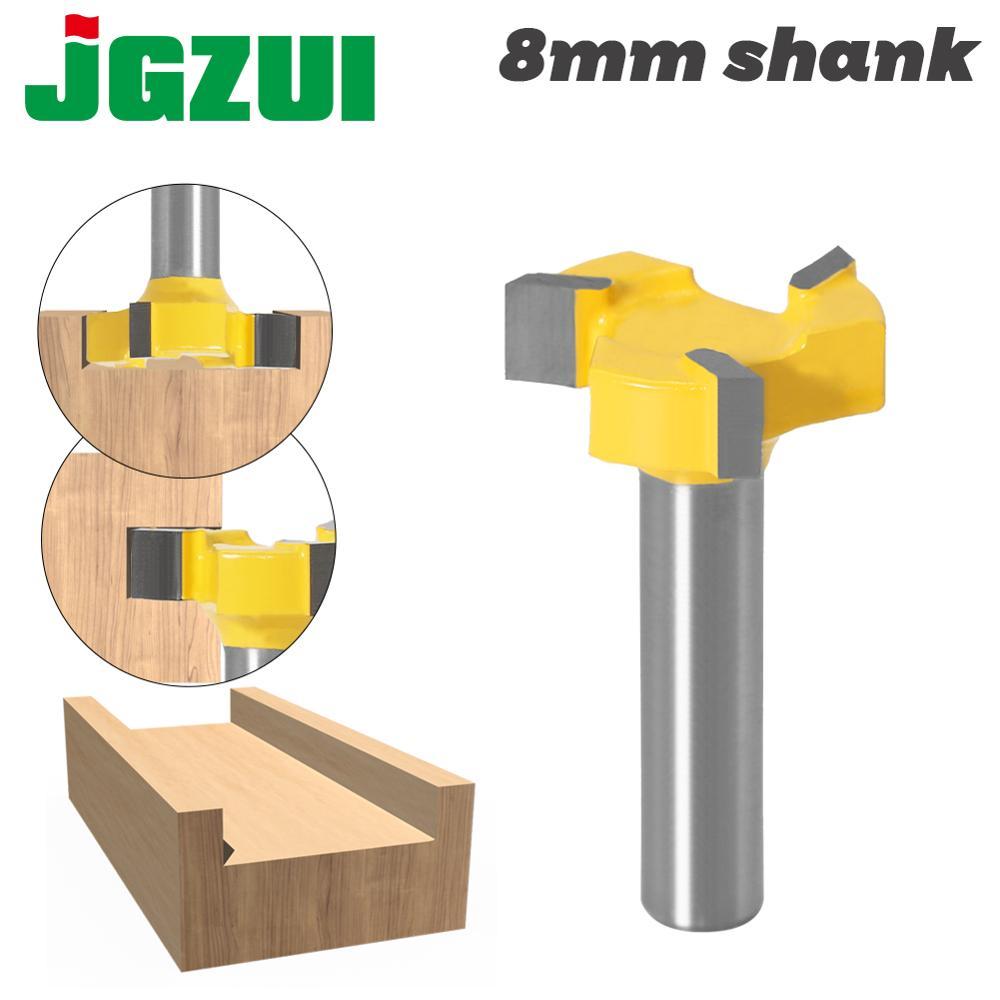 8mm Shank Flush Trim Bit  Z3 Milling Straight Edge Slotting Milling Cutter Cutting Handle For Wood Woodwork