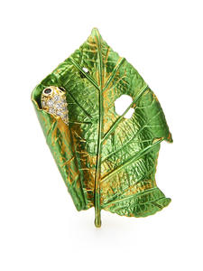 Brooch Pins Leaf Rhinestone Insect New-Design Gifts Silkworm Office Wuli Baby Czech Women