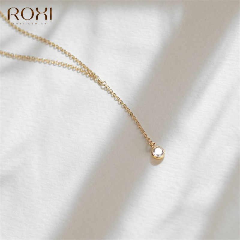 ROXI Bạc 925 Vòng Cổ Nữ Vàng CZ Lariat Vòng Cổ Bohemian Dây Chuyền Dài Y Cổ & Mặt Dây Chuyền Tuyên Bố Trang Sức