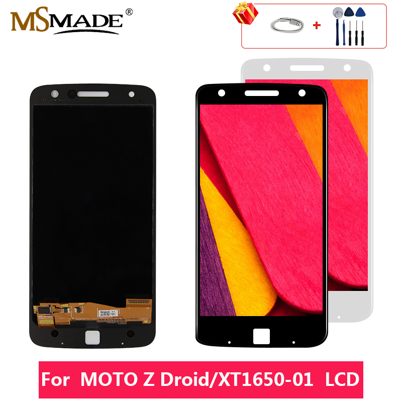 AAA Quality For Motorola Moto Z Force Droid <font><b>XT1650</b></font> <font><b>LCD</b></font> Touch Screen Digitizer Display Replacement Assembly Parts Free Gift 5.5'' image