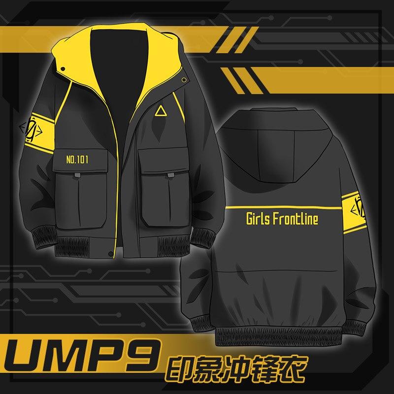 Hot Game Girls Frontline UMP9 SMG Cosplay Fashion Wind Coat Sweatshirt Dust Jacket Casual Hoodie Tops Men Women Jacket Outerwear