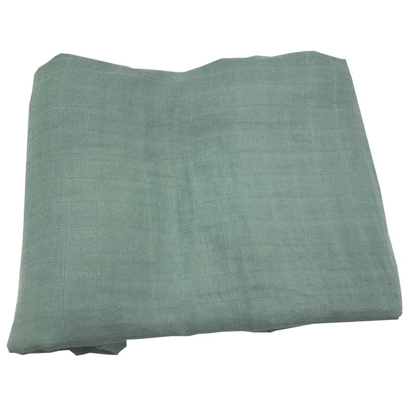 Купить с кэшбэком solid color active printing very soft 70% bamboo fiber 30% cotton muslin baby blanket blankets swaddle for newborn bedding