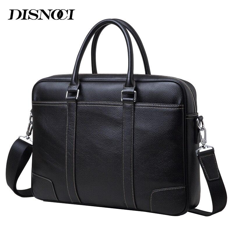100 Natural Cowskin Men s Briefcase Business Genuine Leather Men Handbags 14 Laptop Bag Luxury Men