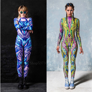 Jumpsuit Summer Swimming Suit for Women Adult Sexy Bodysuit Fashion 2020 Painted Halloween Costume Cosplay Carnival Party Outfit - discount item  39% OFF Costumes & Accessories