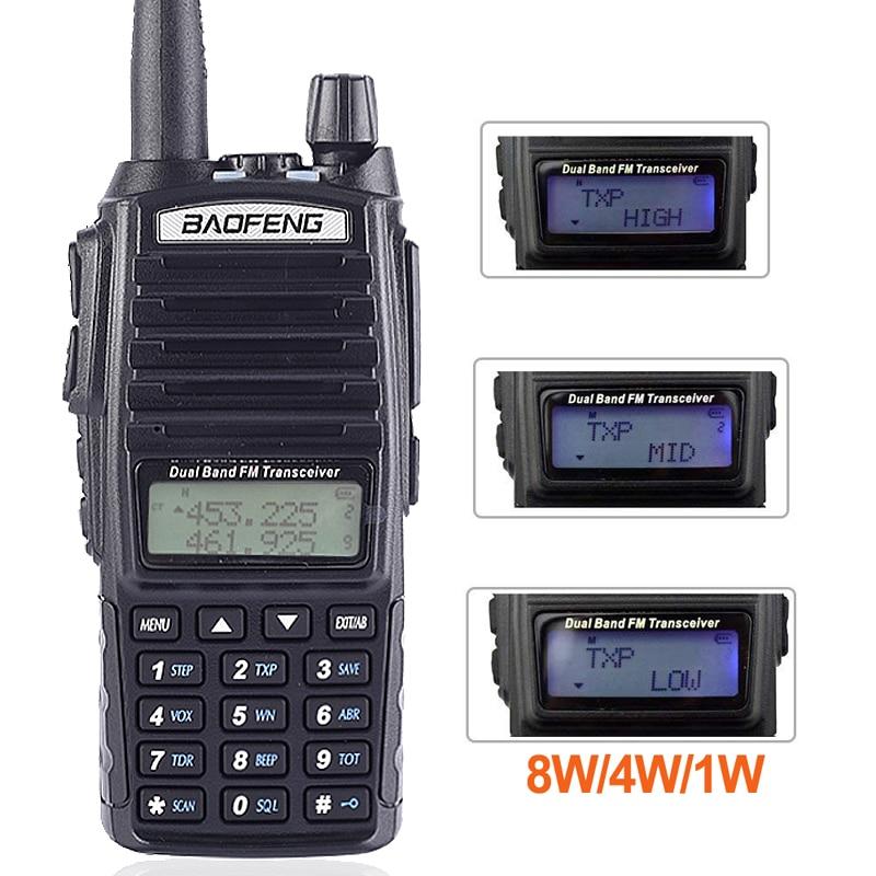 """מכונות כביסה ומייבשים Baofeng Ture 8W UV-82 פלוס 10 ק""""מ ארוך טווח עוצמה מכשיר הקשר Portable CB VHF / UHF שני הדרך רדיו אמאדור 8 וואט מקמ""""ש (2)"""