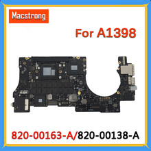 "Getestet Original A1398 Motherboard 2015 820-00163/00426-A für Macbook Pro Retina 15 ""A1398 Logic Board 2,2G/2,5G 16GB 820-00138-A(China)"