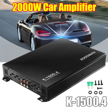 2000W 4 Channel Car Amplifier Speaker Vehicle Amplifier Power Stereo Amp Auto Audio Power Amplifier Car Audio Amplifier sound speaker switcher amplifier audio converter for 1 amplifier 2 speaker or 2 amplifier 1 speaker
