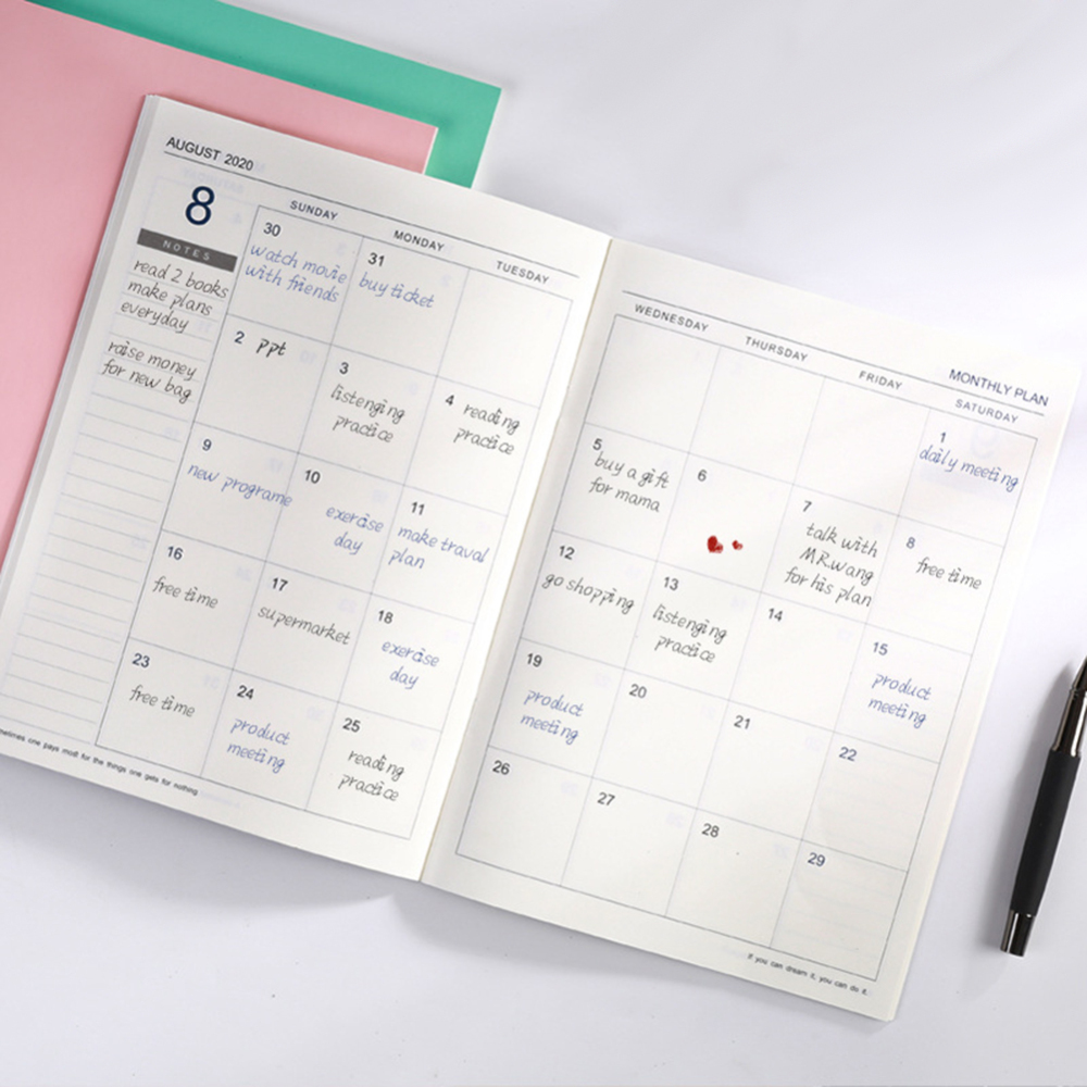Planner Notepad Calendar Stationery Journal Office-Supply Diary Gift Notebook-To-Do-List title=