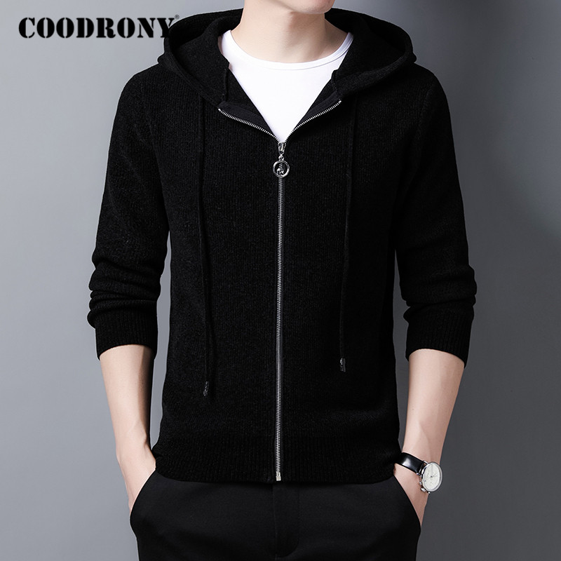 COODRONY Brand Hooded Sweater Coat Men Clothing 2020 New Arrival Casual Knitwear Cardigan Men Autumn Winter Warm Sweaters C1177