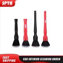 Spta carro detalhando escova super macio escova de limpeza de cabelo para o interior do carro saída ar limpeza lavagem