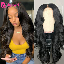 Perruque Lace Closure Wig Body Wave brésilienne naturelle – AliPearl, cheveux Remy, 4x4, pre-plucked, densité 180%