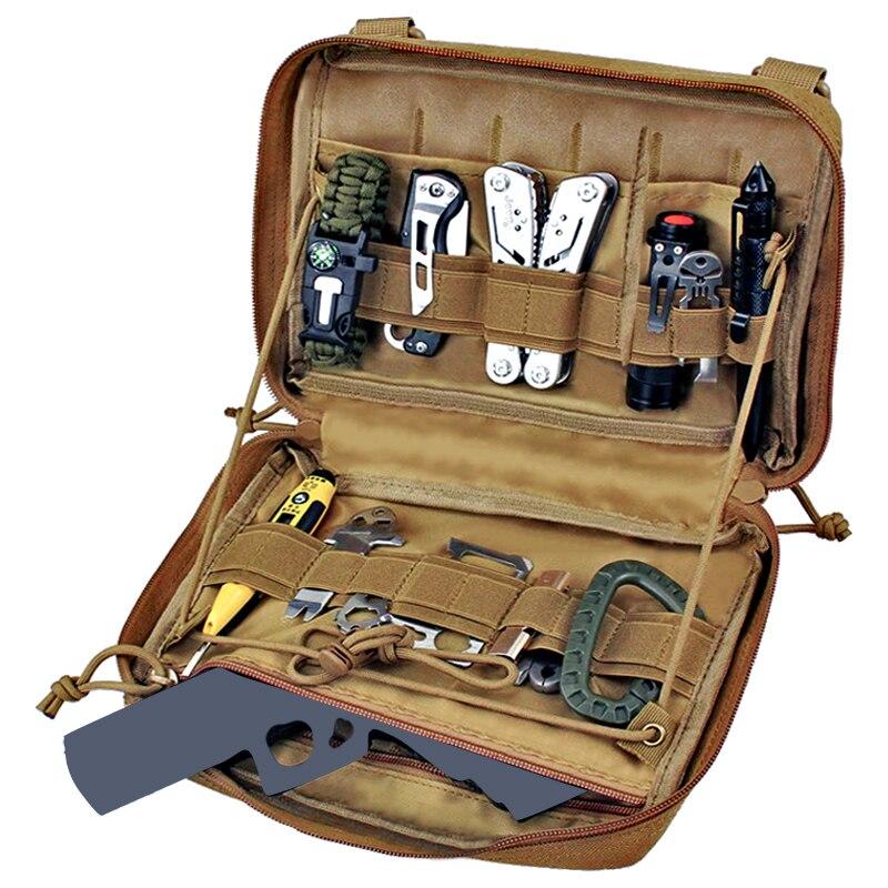 Taktik yönetici Molle çantası çok amaçlı takım tutucu modüler yardımcı çanta araçları EDC yönetici eki torbalar
