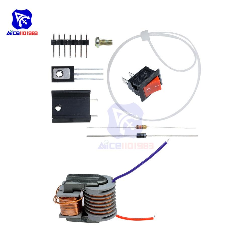 Diy kit 15KV высокочастотный постоянного тока, высоковольтный дуговой генератор зажигания, инвертор, повышающий шаг 18650, DIY Kit, U Core, трансформатор, набор|high voltage|diy kitstep up | АлиЭкспресс