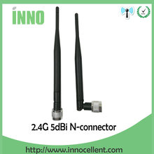 10pcs/lot 2.4GHz LTE 4G 5dBi Antenna Modem 3g 4g Aerial N Male Connector nickelplated
