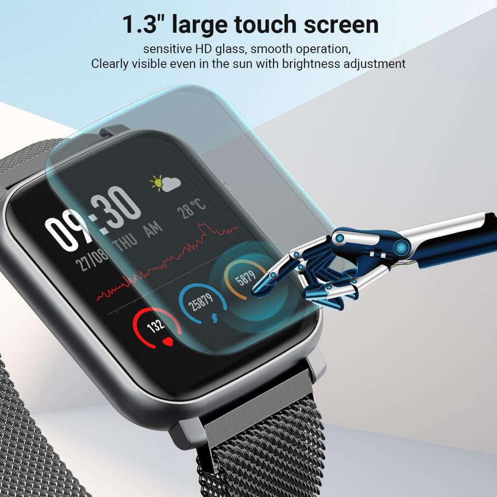 New Smart Watch IP68 Waterproof Touch Screen Heart Rate Fitness Tracker Smart Watch For Men Women Andriod IOS Watch Bands