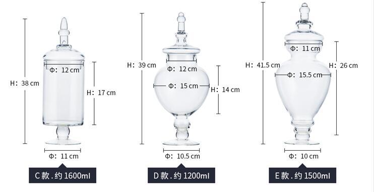 (5 teile/satz) Moderne West Europäischen Stil Starke Glas Lagerung Tank Glas Candy Jar Home Hochzeit Dekore Partei Versorgung-in Flaschen, Gläser & Boxen aus Heim und Garten bei  Gruppe 3