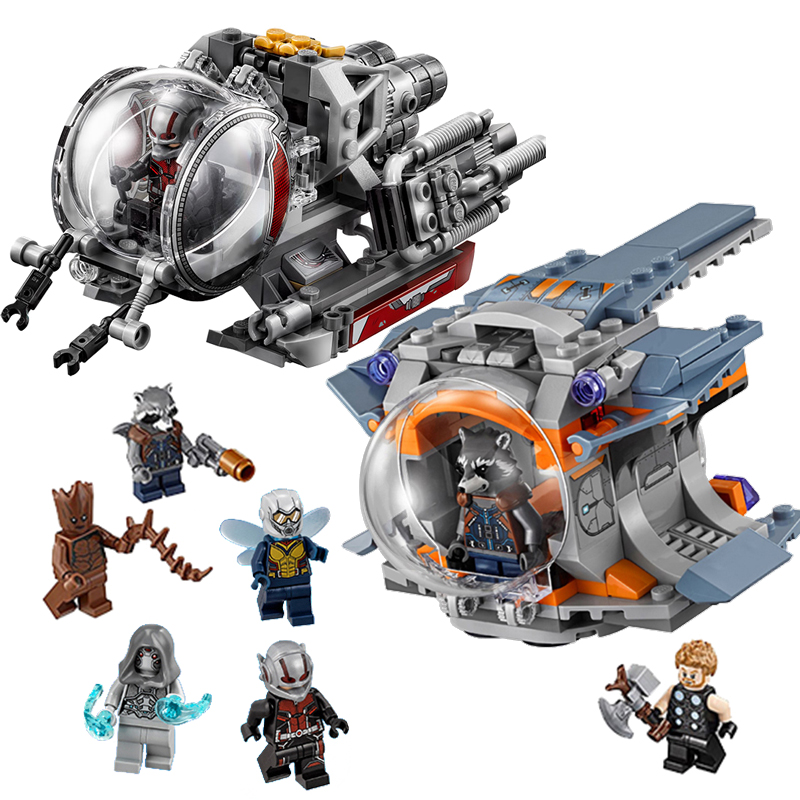 Lepining Avengers Bricks Quantum Realm Explorers Thor Weapon Quest Model Building Blocks Toys For Children