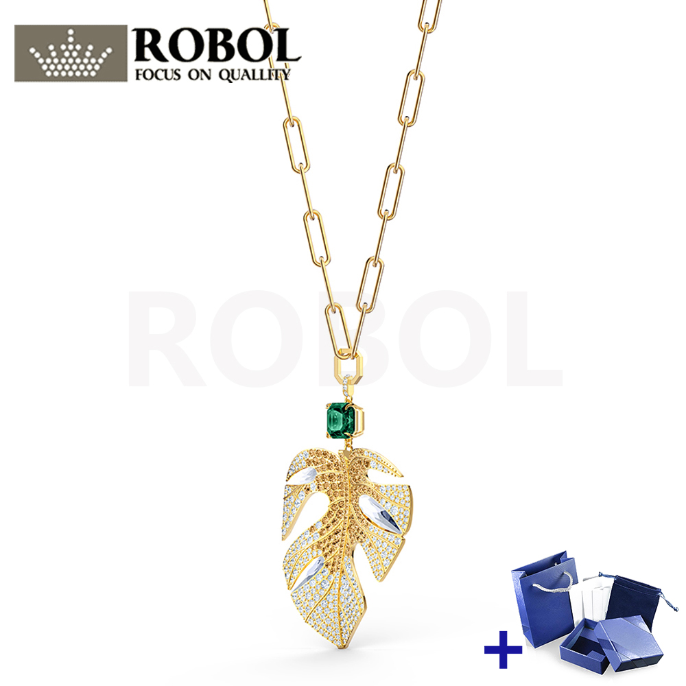 High Quality Original SWA Necklace With Original Engraving TROPICAL LEAF Necklace Box Set Woman Jewelry Gift Free Shipping
