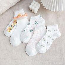 Новинка Весна и Лето Колледж Стиль Трехмерный Маленький Цветочный Носки Кантри Стиль Хлопок Носки Большой Пузырь Носки Белый Милый