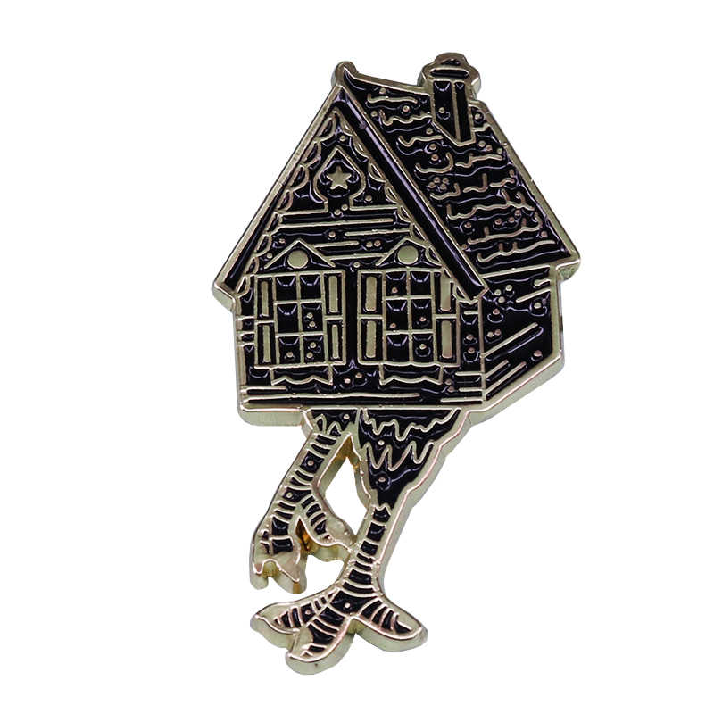 Baba Yaga dello smalto pin strega Haunted Casa Fiaba Russa creepy Folklore Gothic horror aggiunta