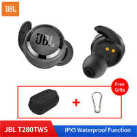 JBL T280 TWS In Ear Wireless Bluetooth 5.0 Sport Earbuds IPX5 Waterproof Stereo Music Dynamic Earphone with Charge Box and Mic