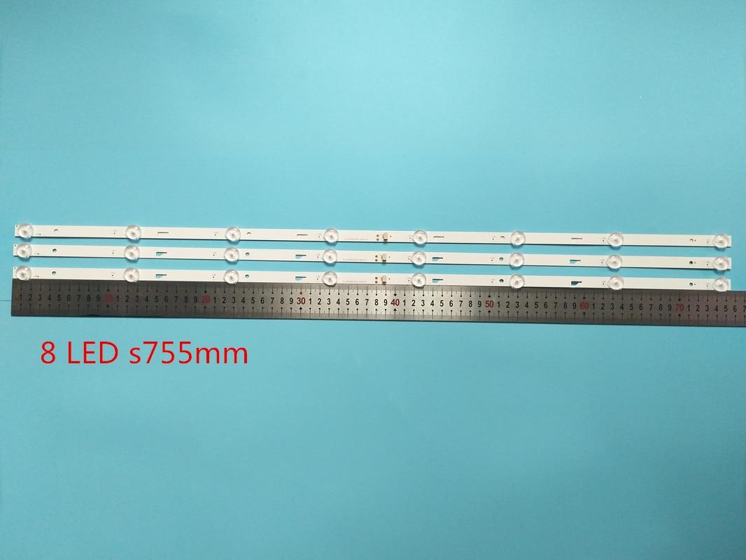 3 Parts/batch For 43L1600C 2600C 43L26CMC L43E9600 JL.D43081330-140FS-M E469119 Lamps 755 Millimeters