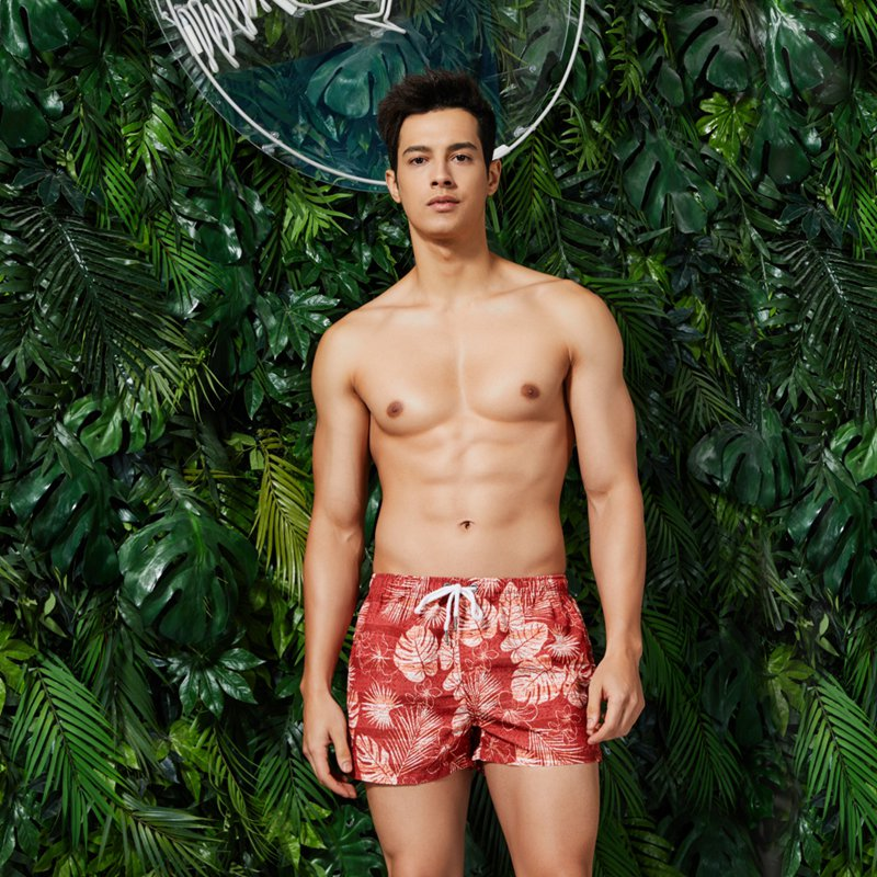 Man's Sport Short Pants Prints Flower Running GYM Swim Shorts Plus Size Swimwear Men Surf Boardshorts Summer Swimsuit New Vcqy