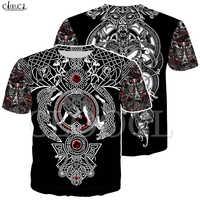 Camiseta nórdica vikinga tatuaje arte cráneo mujeres hombres piratas impresión 3D camisetas vikingos rey manga corta Casual Tops Drop Shipping