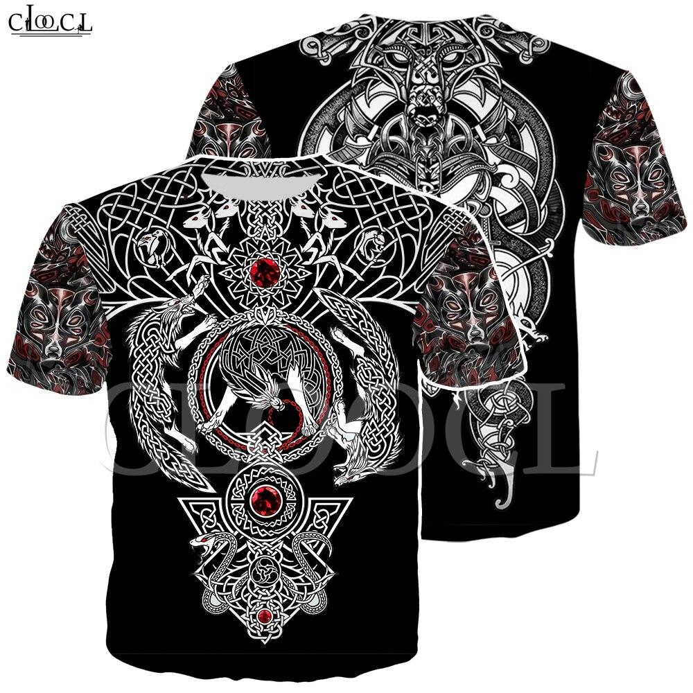 Nordic Viking Tattoo Art Skull T Shirt Women Men Pirates 3D Print T-shirts Vikings King Short Sleeve Casual Tops Drop Shipping