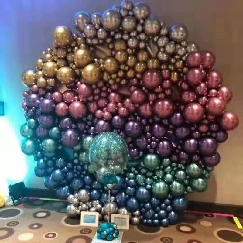 20 шт. 50 шт. 10 дюймов 5 дюймов золотые серебряные шары из латекса цвета металлик металлические хромированные воздушные шары Свадебный декор т...