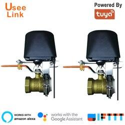 UseeLink WiFi умный газ/клапан 2 шт. умный дом автоматизация управления клапан для газовой работы с Alexa, Google Home, IFTTT power by tuya