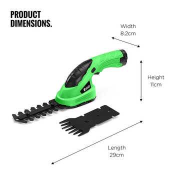 East Garden Tools 3.6V Lithium 1500mAh Cordless Grass Trimmer Hedge Trimmer Pruning Shears Lawn Mower ET1205C