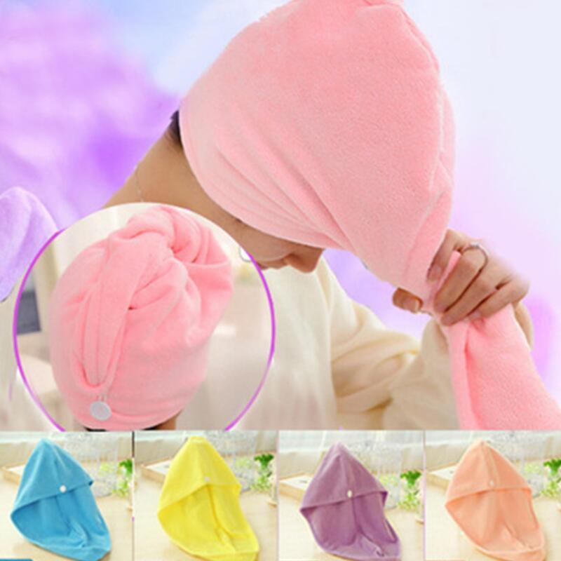 Quick Magic Dryer Microfiber Hair Fast Drying Towel Wrap Turban Bath SPA Hat Cap Dhl Free Shipping LX8421