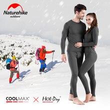 Naturehike – ensemble de bas d'hiver Ultra doux pour femmes, tenue avec doublure polaire en microfibre