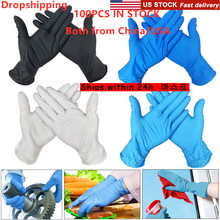100 PCS 3 Color Disposable Gloves Universal For Left and Right Hand Latex Dishwashing/Kitchen/ /Work/Rubber/Garden Gloves