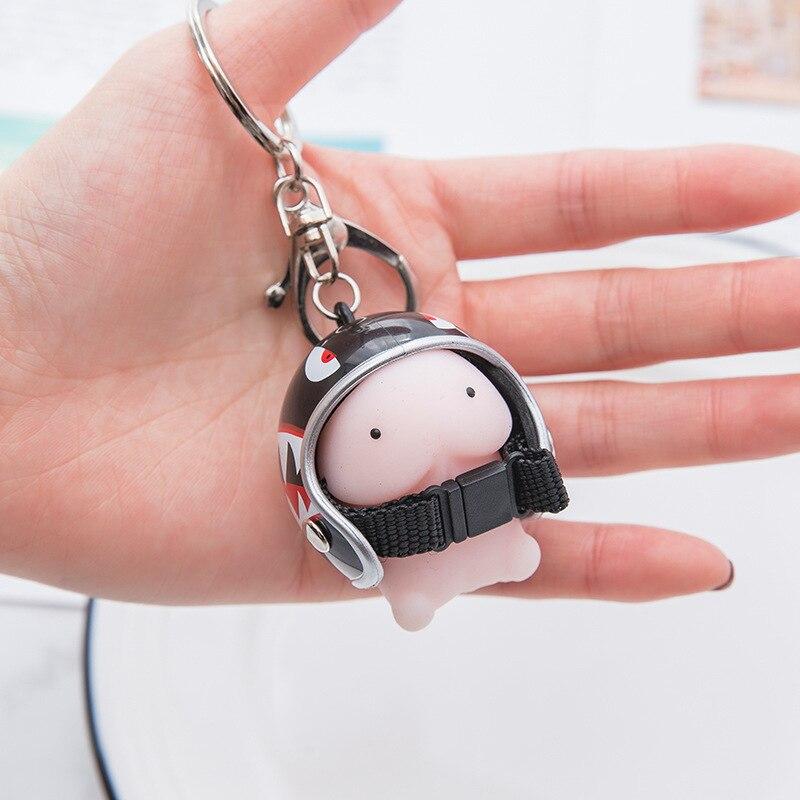 Забавный креативный мультяшный шлем брелок Мягкая игрушка игрушки для снятия стресса женская сумка подвеска брелок