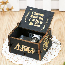Game of Thrones Sailor Moon Ron Weasley Hermione Granger Draco Malfoy Hand shake wooden Music Box Birthday Gift